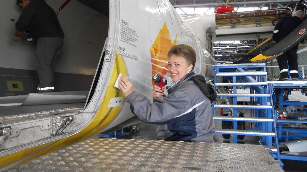 Брандиране на самолет ATR72